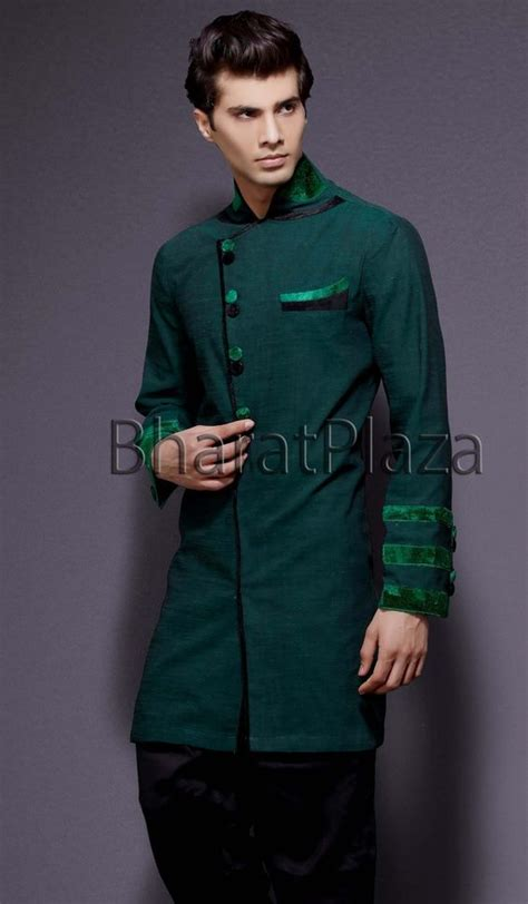 mens kurta pattern drafting angrakha pattern linen kurta item code skb2212 http