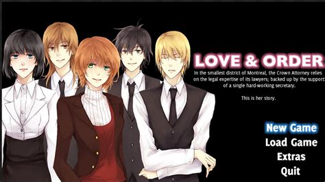 anime game love love order english dating sim otome game demo released