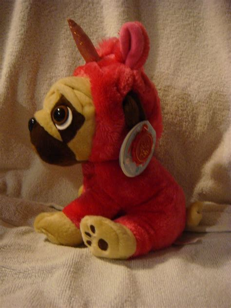 pugsley the pug beanie baby pugsley the pug 8inch dressed pink unicorn