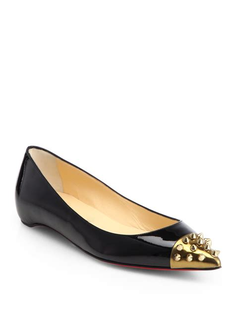 spiked flats shoes christian louboutin geo spiked ballet flats christian