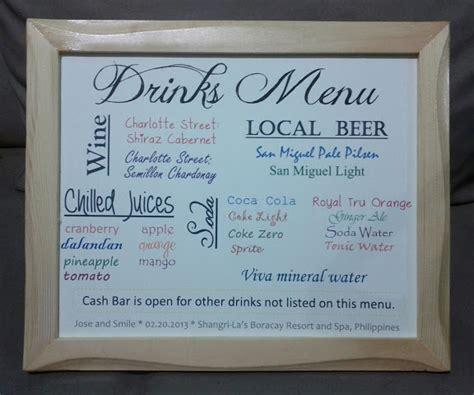 our drinks menu weddingbee photo gallery