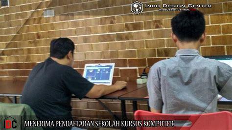 desain meja pendaftaran menerima pendaftaran sekolah kursus komputer
