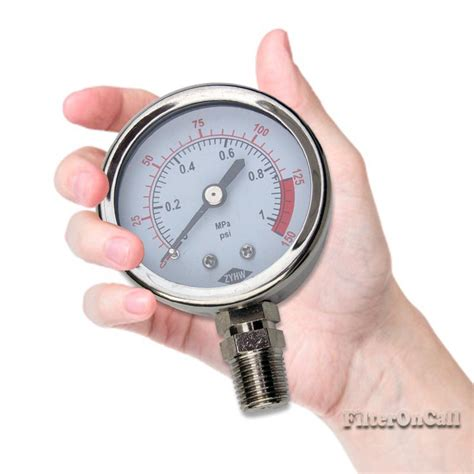 house water pressure dry water pressure gauge 1 4 quot npt 150 psi for whole house reverse osmosis sys ebay