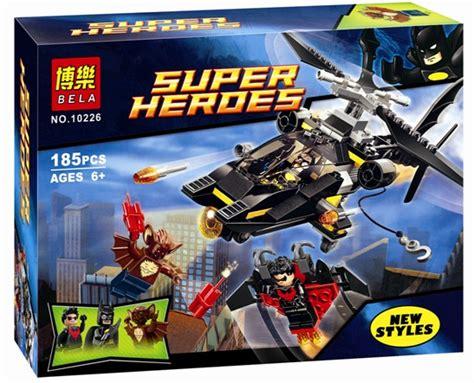 Lego Bela 10226 Bat Attack Batman Robin buy 2016 bela batman helicopter building block 10226 children s gift compatible