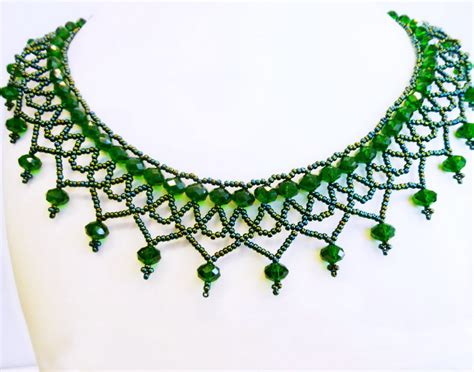 seed bead choker patterns free pattern for necklace pembe magic beading