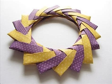 How To Make A Origami Wreath - origami modular braided wreath