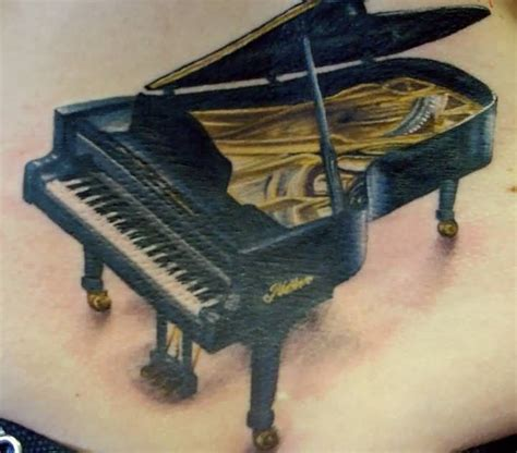 tattooed heart piano cover 50 phenomenal piano tattoo ideas golfian com