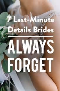 Wedding Checklist Last Week by 25 Best Ideas About Last Minute Wedding On