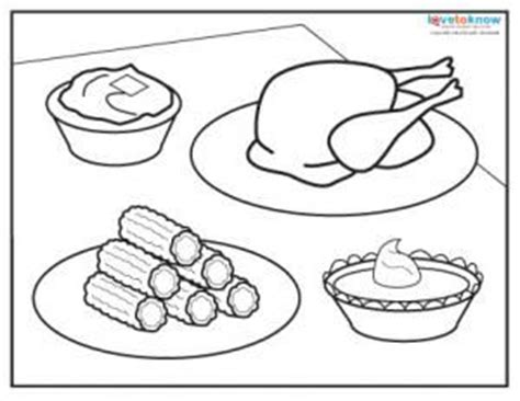 coloring page of thanksgiving food thanksgiving dinner coloring page thanks giving pinterest
