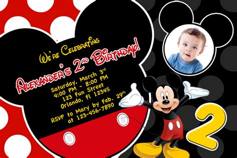 mickey mouse 1st birthday invitations ideas bagvania
