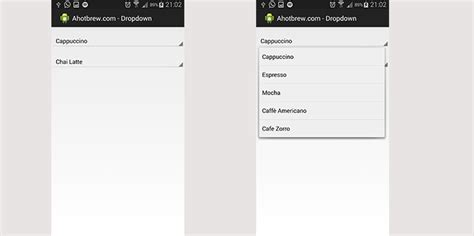 android drop list android drop list exle ahotbrew android development tutorials