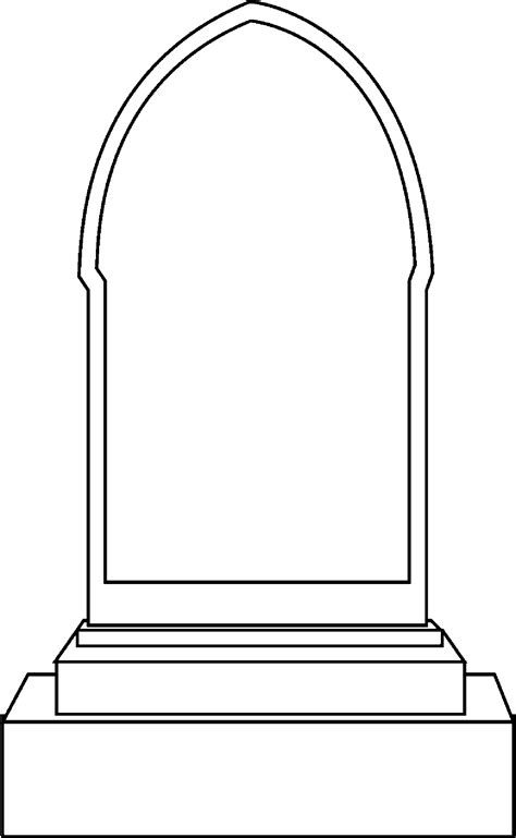 tombstone coloring page cliparts co