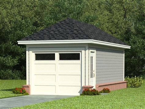one car garages one car garage plans single car garage plan with hip roof 006g 0004 at thegarageplanshop com