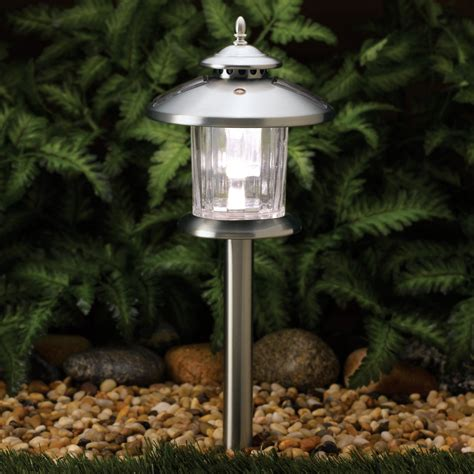 westinghouse mini solar holiday christmas garden outdoor pathway light westinghouse new silver norton stainless steel solar pathway led light 4 pack ebay
