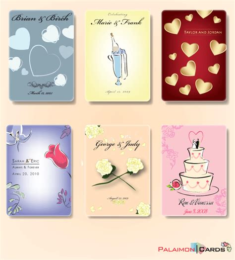 personalized card wedding favors card decks 171 palaimon cards quality