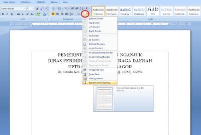 cara membuat garis undangan di word cara mudah membuat garis kop surat di microsoft word 2007 2010