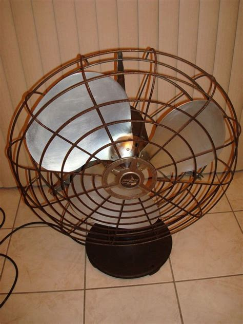 vintage look pedestal fan antique vintage emerson fan pedestal k60 tb aluminum 3