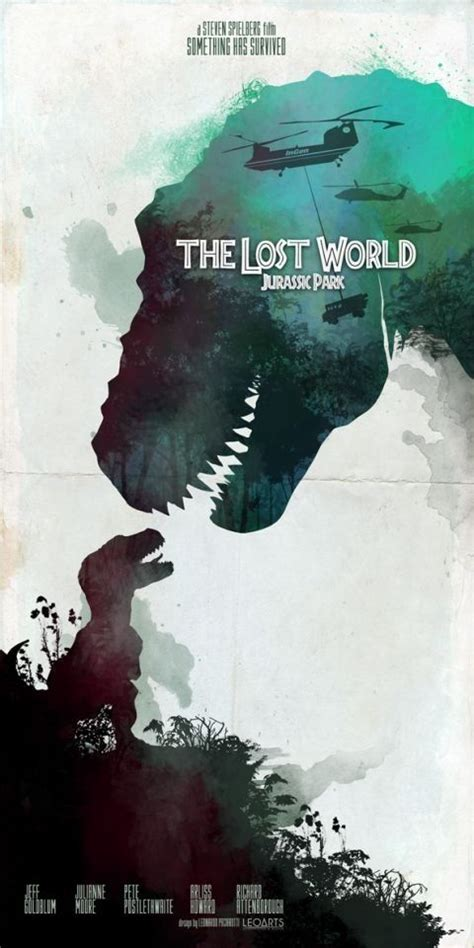 film lost dinosaurus inspired movie poster the lost world jurassic park 1997