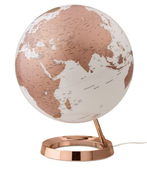 Globus Modern design leuchtglobus atmosphere light colour copper 30cm