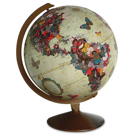 butterfly globe sculpture geography from uncommongoods