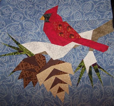 free printable paper piecing quilt blocks free cardinal quilt pattern zoey quilts cardinal paper