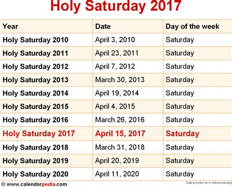 Calendar 2018 Sunday To Saturday When Is Holy Saturday 2017 2018 Dates Of Holy Saturday