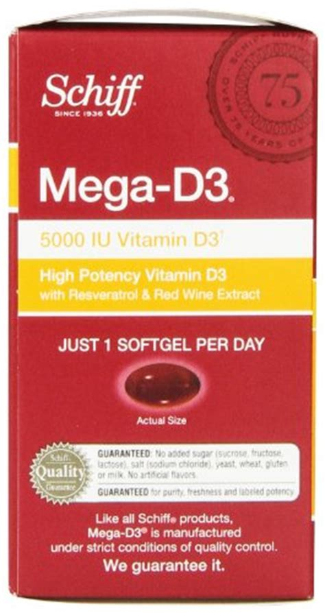Murah Schiff Mega D3 90 Softgels Schiff Dailyheart Mega D3 90 Softgels 5000 Iu Of