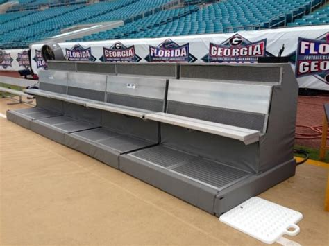 football benches for first cold weather super bowl benches with wrap