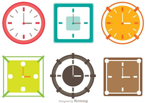 colorful clocks colorful clocks vector pack free vector
