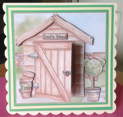Shedding Card by S Cards S Shed