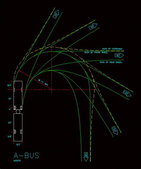 Aashto Minumum Design Turning Radius 2 29 Mb Bibliocad Aashto Turning Templates