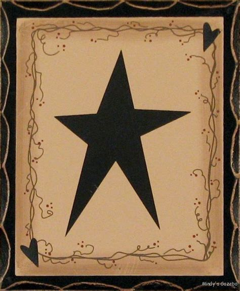 country star decorations home primitive country wood standing star block sign antique