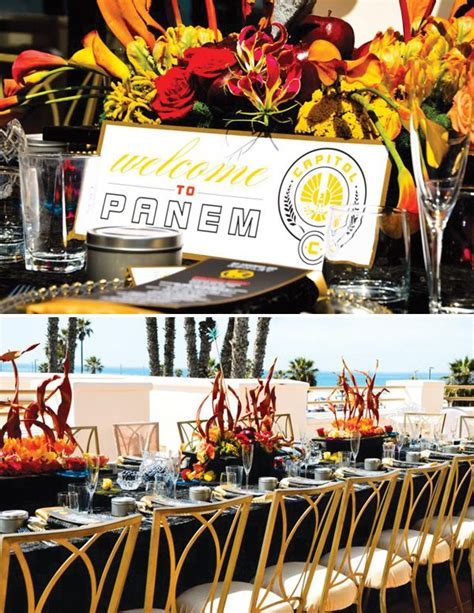 themes in hunger games trilogy gorgeous hunger games bridal shower capitol inspired