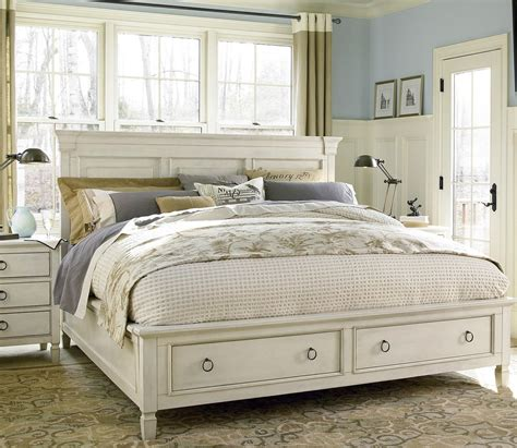 country king size bedroom sets country chic wood king size white storage bed storage