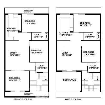 House Map Design 20 X 50 by 30 Feet By 60 Feet House Map Plan 1 Pinterest House