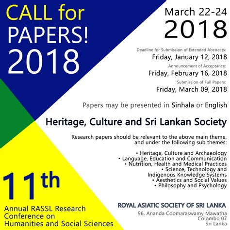 call for research papers call for papers 11th annual rassl research conference on