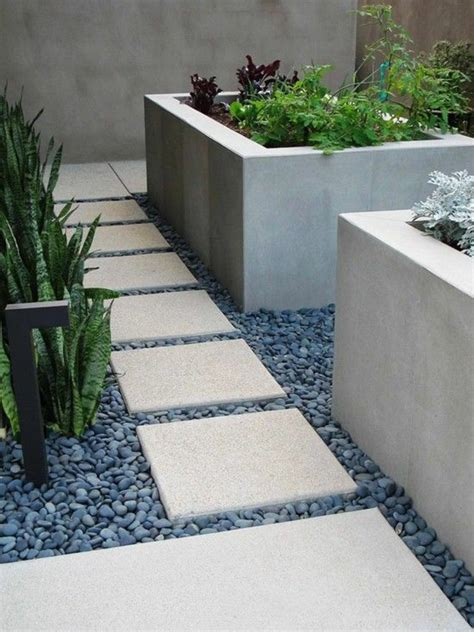 Paving Planters by 40 Exles Of Garden Design With Gravel Hum Ideas