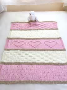 decke gestrickt easy baby blanket knitting pattern crafting by