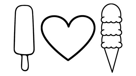 ice cream coloring pages games how to draw heart and ice cream coloring pages for kids