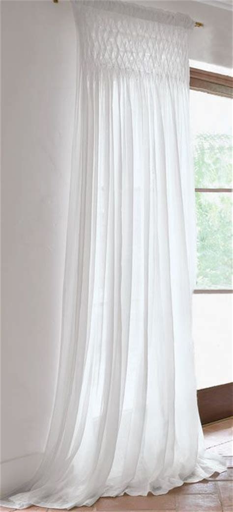 smocked sheer curtains drapery panels window treatments and window on pinterest