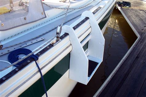 boat show boarding steps capt n pauley s virtual boat yard projects galore