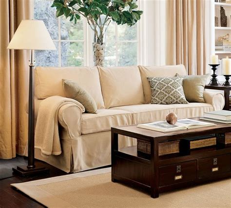 Slipcover Furniture Living Room Pb Basic Sofa Slipcover Contemporary Sofas By Pottery Barn