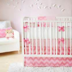 pink chevron crib bedding contemporary nursery new