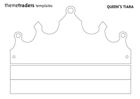 crown template pin printable tiara template baby carolena prince and