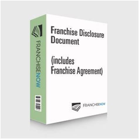 Franchise Disclosure Document Fdd Franchise Fdd Template