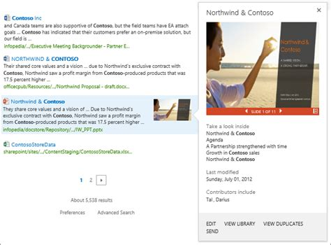 Search Results Briefformat Change How Search Results Look By Using Result Types And Display Templates Sharepoint