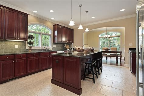 Kitchen Island Cherry Wood Luxury Kitchen Design Ideas Custom Cabinets Part 3 Designing Idea