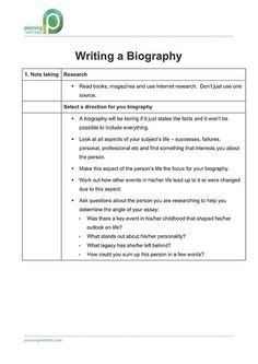 writing a biography lesson plan ks2 nonfiction writing for 2nd grade biographies lab
