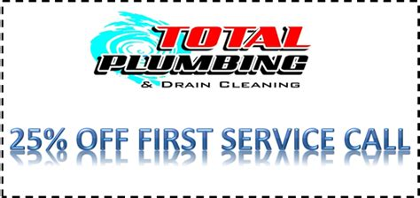 firstcall coupon large total plumbing drain cleaning