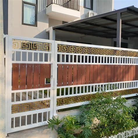 trend model pagar rumah minimalis terbaru  dekor